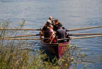 Members of the public were invited to try gig rowing